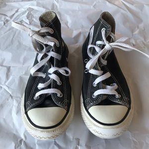 Black converse high tops youth size 1